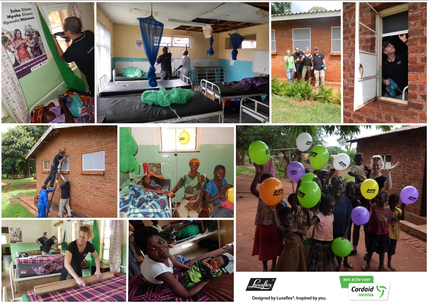 Luxaflex® plaatst horren in klinieken in Malawi