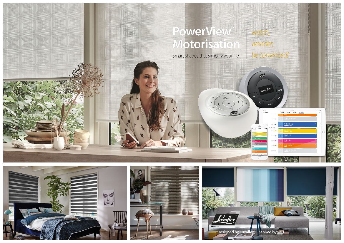 Luxaflex® introduceert intelligent bedieningssysteem PowerView® Motorisation