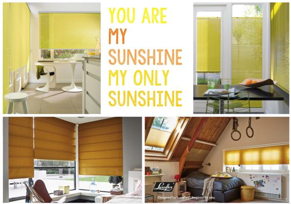 De tinten geel van Luxaflex® Het hele jaar Pasen met meer dan vijftig tinten geel