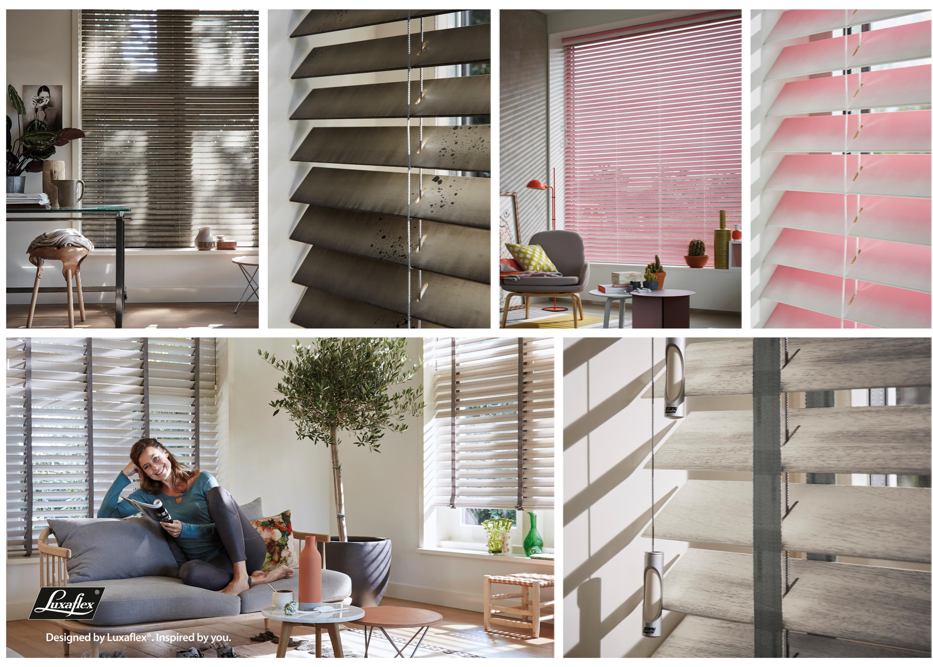 Luxaflex® introduceert artistieke houten jaloezieën