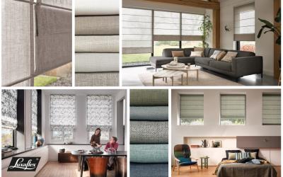 Elegant en tijdloos wonen met nieuwe collectie vouwgordijnen van Luxaflex®